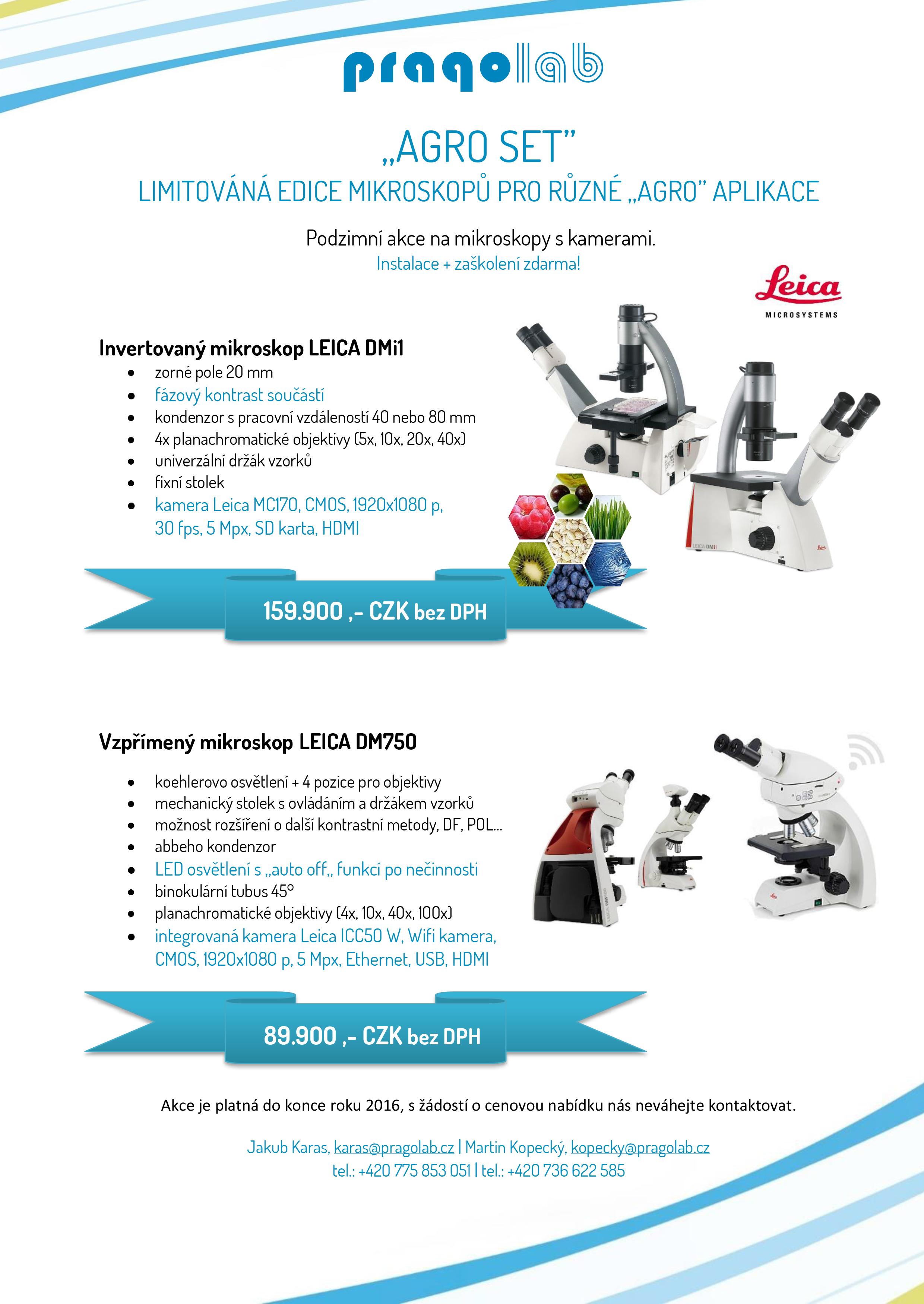 Akce - Mikroskopy pro agro aplikace