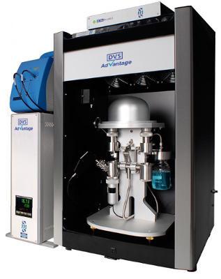 DVS Advantage systém pro studium sorpce vodních par