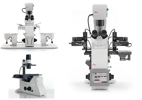 Invertovaná platforma Leica DMi8 a digitální mikroskop Leica DMS1000