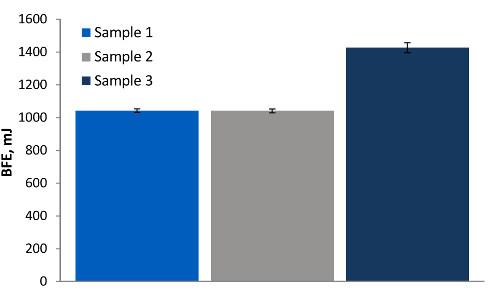 Obr. 2: Dynymický test základní energie toku (BFE)