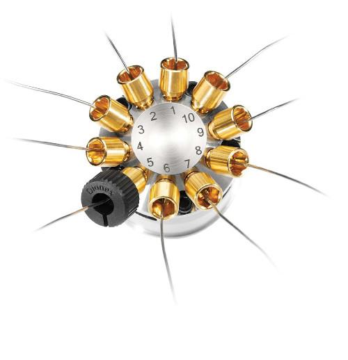 Obr. 3: 10-portový ventil so systémom Thermo Scientific Viper