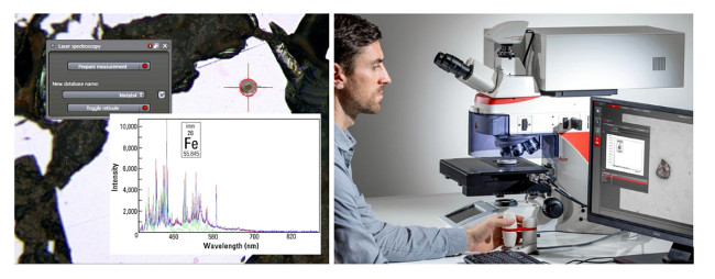 Obr. 6: Ukážka a funkčnosť LIBS analýzy