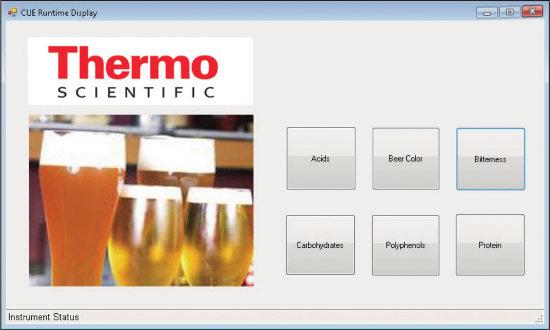 Obr. 3: CUE™ softvér prispôsobený pre analýzu piva