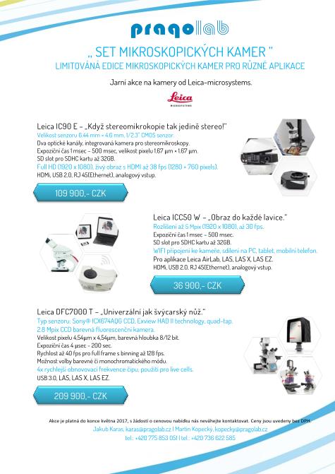 Akce - limitovaná edice mikroskopických kamer pro různé aplikace
