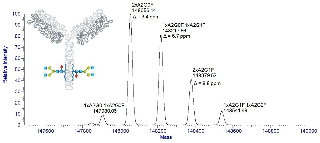 Glykozylačné adukty adalimumabu (líšiace sa počtom naviazaných galaktózových   jednotiek, tj. s hmotnostným rozdielom 162), produkty posttranslačnej modifikácie pri bioprodukcii